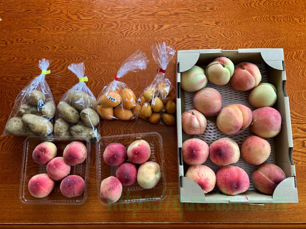 2021年も長田の桃の販売が始まったよ